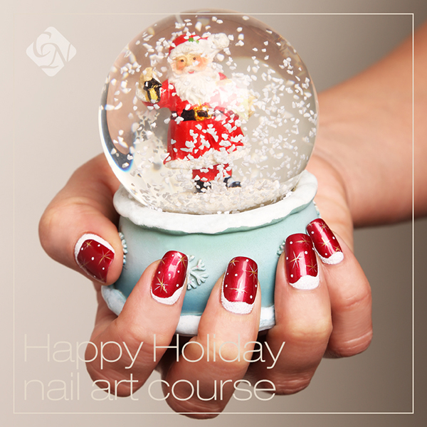 Christmas gel nail art course